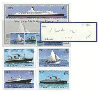 Picture of Queen Elizabeth II Ship  Visit To Tristan Da Cunha FDC 7 Head Pack