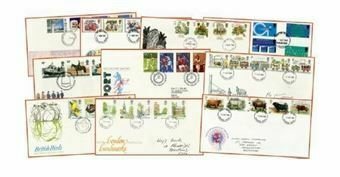 Picture of 10 Different Early First Day Covers