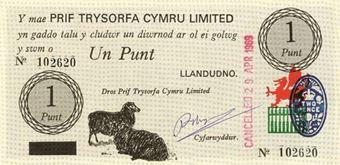 Picture of Wales, Black Sheep Bank, 1 Punt, Caernarvon Castle, UNC