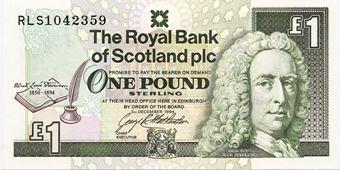 Picture of Scotland, Robert Louis Stevenson £1, 1994 (P358) Crisp UNC