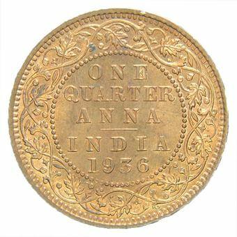Picture of India, George V/Edward VIII 1/4 Anna 1936