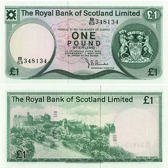 Picture of Royal Bank of Scotland Limited, £1, 1972-81 UNC