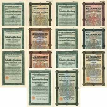 Picture of Fantastic Collection of 7 different German Bonds