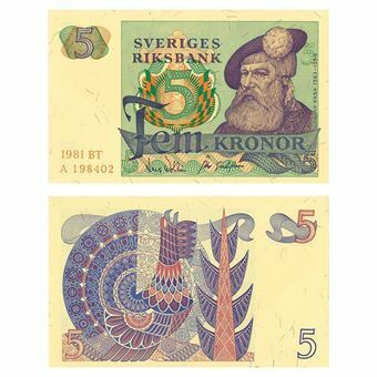 Picture of Sweden, 5 Kronor, 1966-1981 (P51). Crisp EF