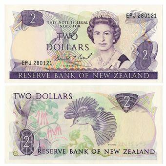 Picture of New Zealand, Paper 2 dollars (P170c). Crisp UNC
