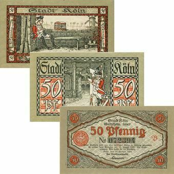 Picture of Cologne Notgeld set of three 'Soldiers'