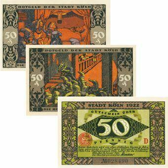 Picture of Cologne Notgeld set of 3 'Elves'