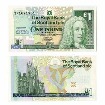 Picture of Scotland, Parliament £1, 1999 (P360). Unc