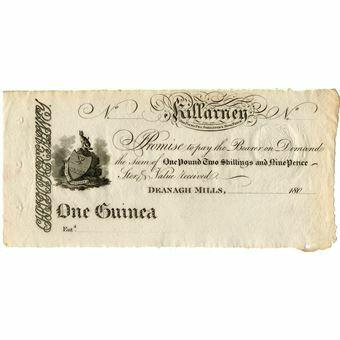 Picture of Ireland, Killarney, 1 Guinea note, Crisp GEF