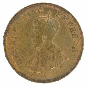 Picture of India, George V 1920 1/12th Anna Uncirculated