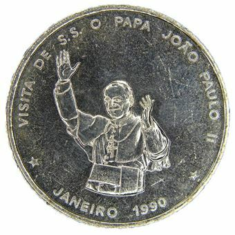 Picture of Cape Verde, Scarce 100 Escudo, Pope's Visit Commemorative 1990