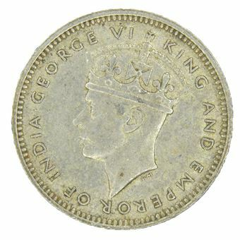Picture of Malaya, George VI, Silver 10 Cents, 1945. Ext Fine
