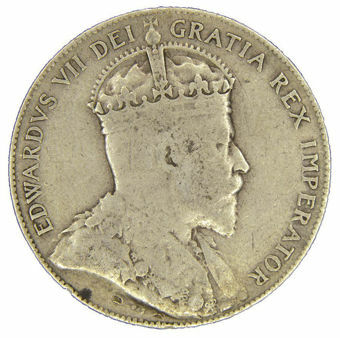 Picture of Canada, Newfoundland, Edward VII, 50 Cents VG