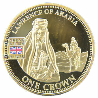 Picture of Tristan da Cunha, Crown (Lawrence of Arabia) 2010 gold-plated