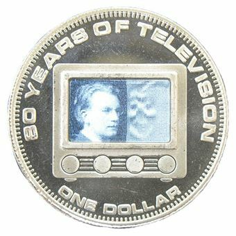 Picture of Cook Islands, Crown-size $1, 80th Anniversary of TV. Brilliant UNC