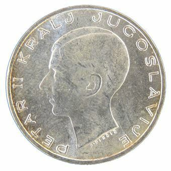 Picture of Yugoslavia, 20 Dinar, 1938. Brilliant Unc