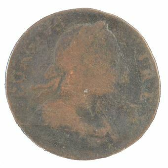 Picture of United States of America, USA 18th Century Counterfeit Halfpenny