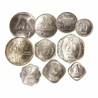 Picture of India, Denomination Set of 10 Coins