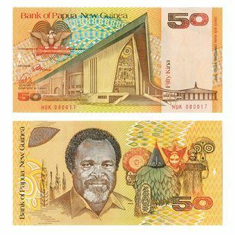 Picture of Papua New Guinea 50 Kina P11 Unc