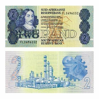 Picture of South Africa, 2 rand, 1983-1990 (P118d). UNC