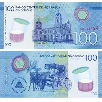 Picture of Nicaragua 100 Cordobas 2015 P213 Plastic Unc