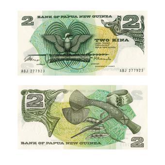 Picture of Papua New Guinea, 2 Kina note (P1), Crisp Uncirculated