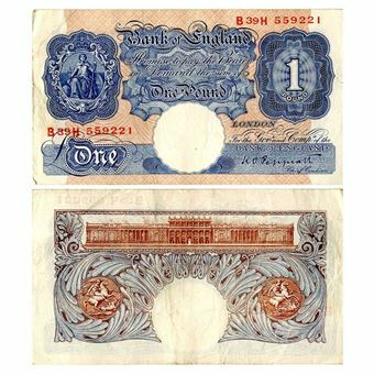 Picture of Blue/Pink Wartime £1 (B249), FINE