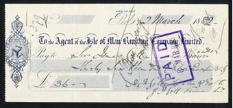 Picture of Agent of the Isle of Man Banking Co.Ltd., Peel, 18(82)