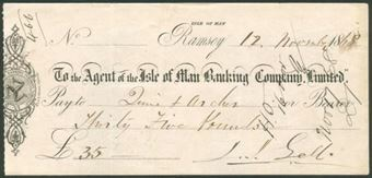 Picture of Agent of the Isle of Man Banking Co.Ltd., Ramsey, 18(68)