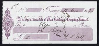 Picture of Agent of the Isle of Man Banking Co.Ltd., Ramsey, 18(69)