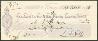 Picture of Agent of the Isle of Man Banking Co.Ltd., Ramsey, 187(4)