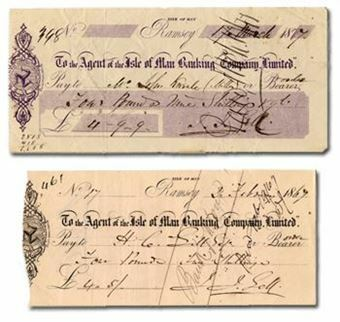 Picture of Isle of Man 19th Century Cheque