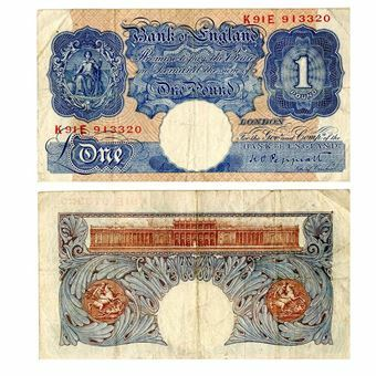 Picture of Blue/Pink Wartime £1 (B249), VG
