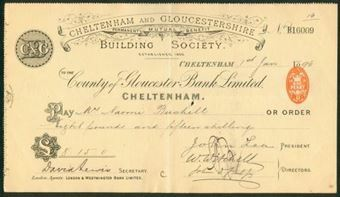Picture of County of Gloucester Bank Ltd., Cheltenham, 18(96), special printing