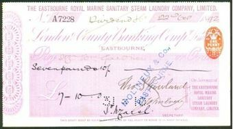 Picture of London & County Banking Co. Ltd.,18(92), The Eastbourne Royal Marine Steam Laundry