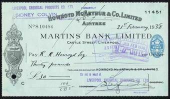Picture of Martins Bank Ltd., Castle Street, Liverpool, 19(37)