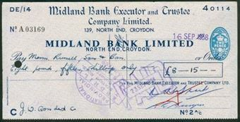 Picture of Midland Bank Ltd., 139 North End Croydon, 19(58), special printing