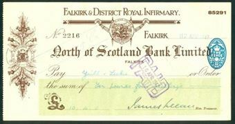 Picture of North of Scotland Bank Ltd., Falkirk, 1947, special printing