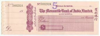 Picture of India, Mercantile Bank of India Limited, Kuala Lumpur, 19- (circa 1930)