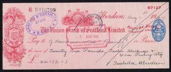 Picture of Union Bank of Scotland Ltd., Aberdeen, Holburn Branch, 19(44)