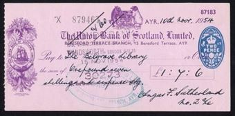 Picture of Union Bank of Scotland Ltd., Ayr, 19(54)