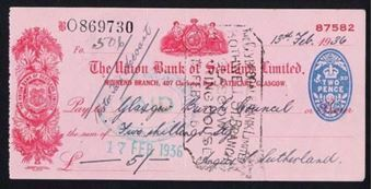 Picture of Union Bank of Scotland Ltd., Glasgow, Muirend Branch, 19(35)