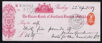 Picture of Union Bank of Scotland Ltd., Paisley, 18(87)