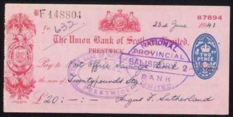 Picture of Union Bank of Scotland Ltd., Prestwick, 19(41)