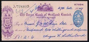 Picture of Union Bank of Scotland Ltd., Prestwick, 19(47)