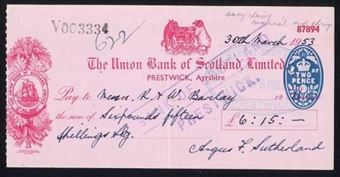 Picture of Union Bank of Scotland Ltd., Prestwick, 19(53)