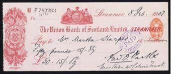 Picture of Union Bank of Scotland Ltd., Stranraer, 19(07)
