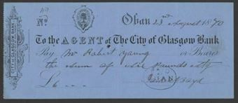 Picture of Agent of the City of Glasgow, Oban, 18(71)
