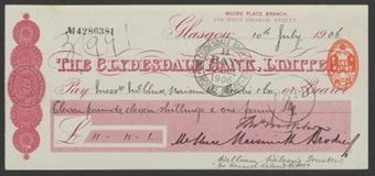 Picture of Clydesdale Bank, Ltd., Glasgow, Moore Place Branch, 19(06)