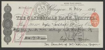 Picture of Clydesdale Bank, Ltd., Glasgow, Moore Place Branch, 19(09)